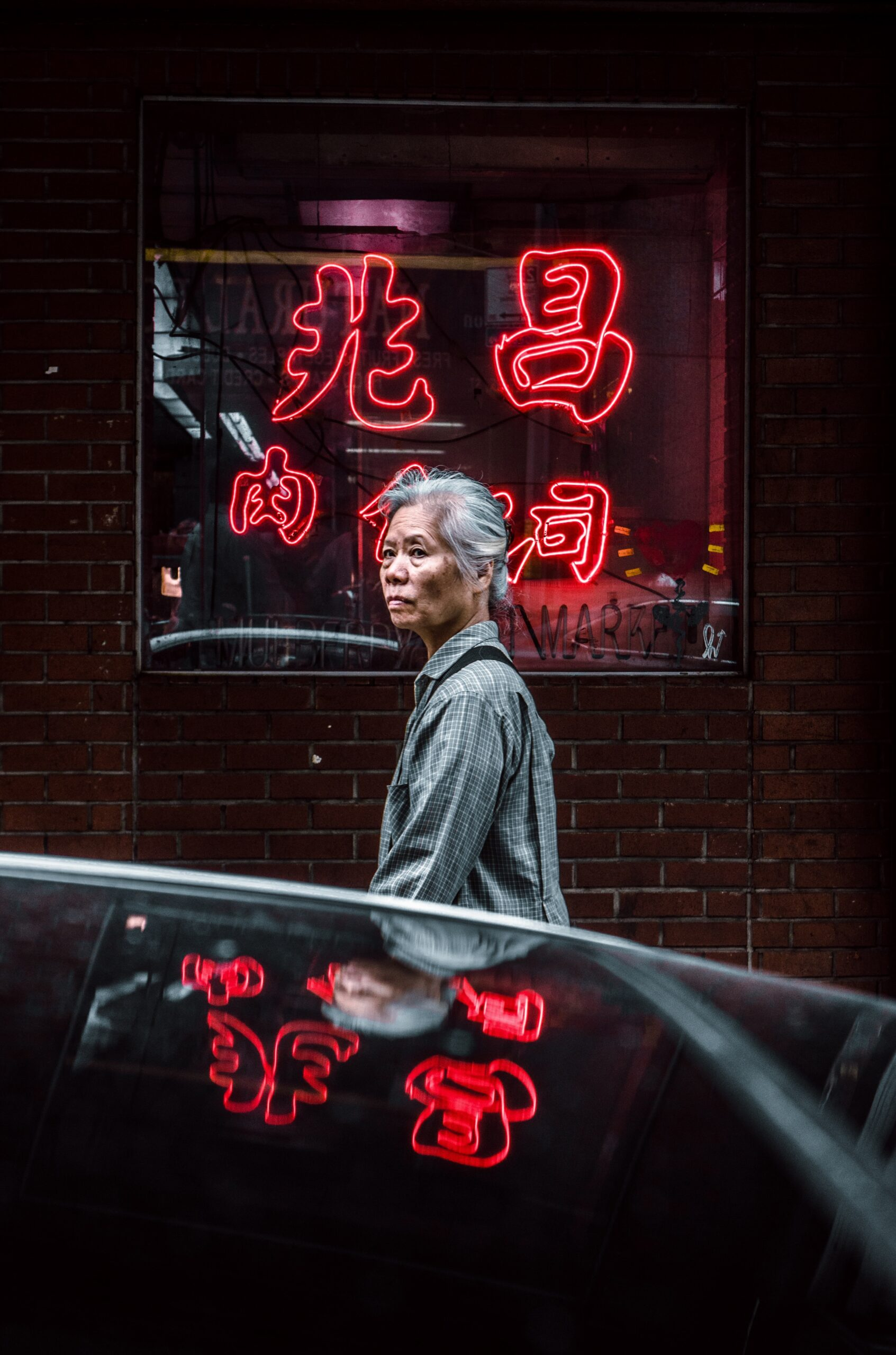 Woman in New York Chinatown