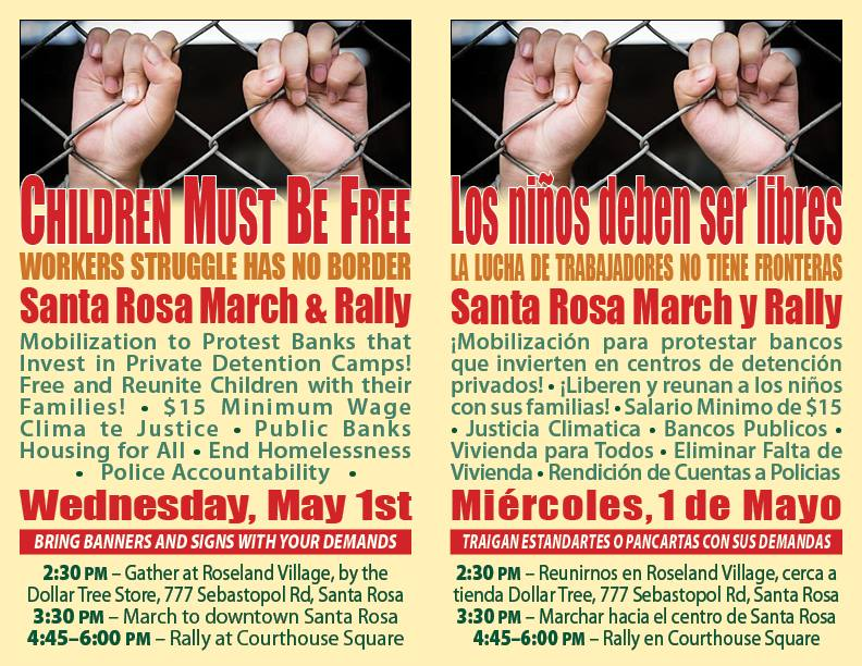 May Day March and rally, Wednesday May 1