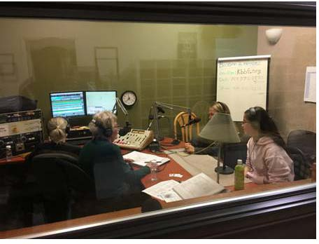Cabrilla Wiecek and Ani Fowler speak on Climate Action Night on Women's Spaces Radio Show