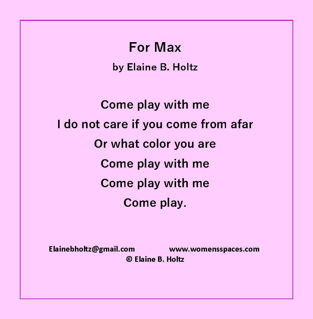 For Max by Elaine B. Holtz