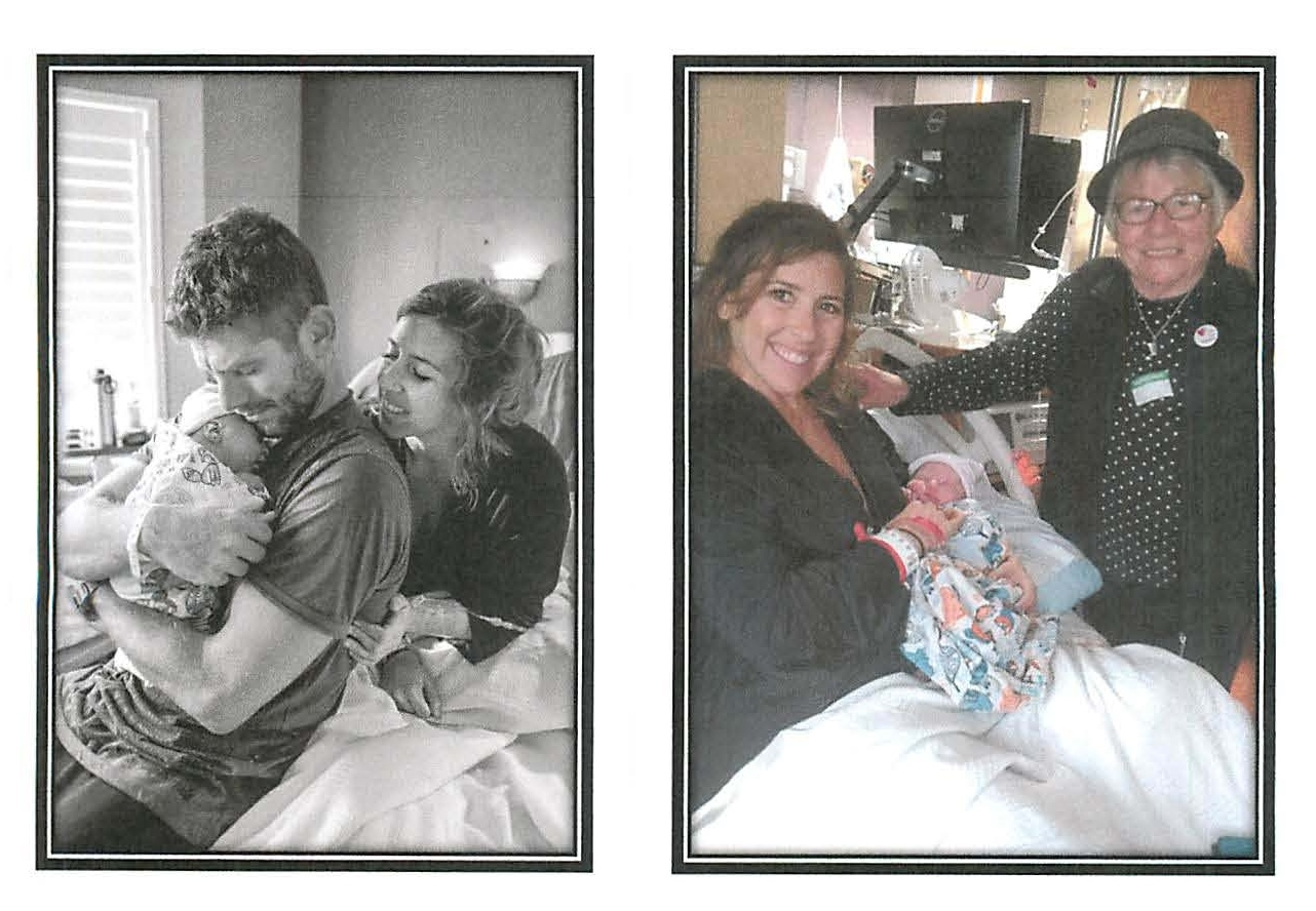 Birth of Satori Trinity Jensen w Parents Ryan and Amber and Great Grandmother Elaine 9/6/2018