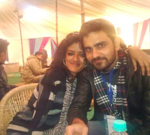 Me and Fawad at National School of Drama, New Delhi
