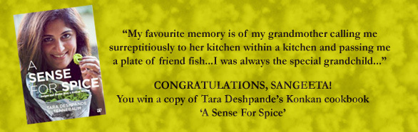 A Sense For Spice Book Winner