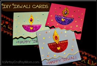 How to make a Diwali greeting card