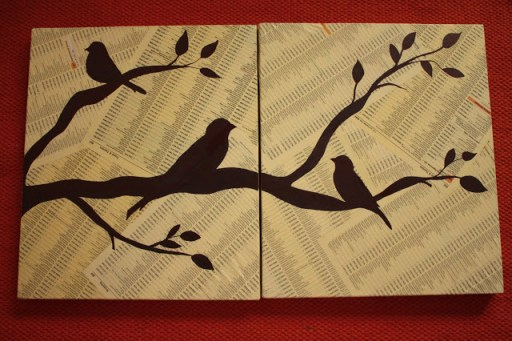 DIY Home Decor: Bird Canvas