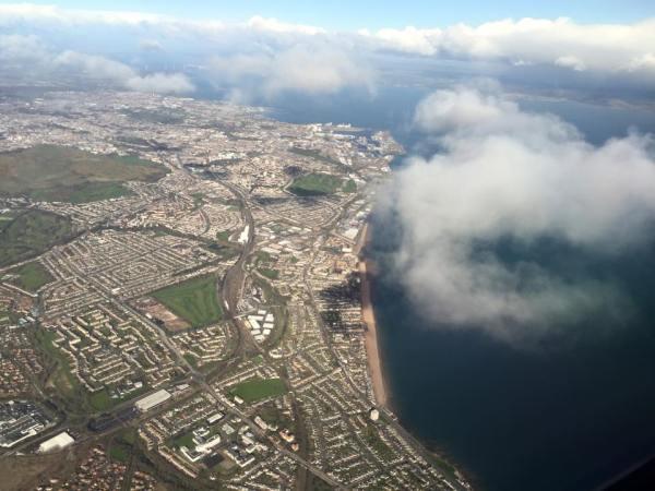 Ariel View of the Scottish Capital - Ediburgh