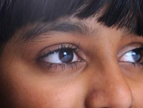 girl close-up of eyes