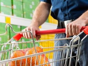 man buying oranges