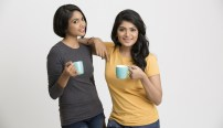 young Indian women with tea