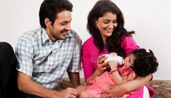 Indian couple with daughter