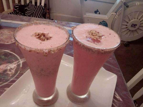 roohafza milkshake