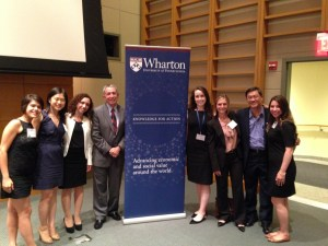 Women's World Banking Staff with Mike Useem at the Wharton Leadership Conference