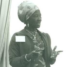 Esther Ocloo at the UN World Conference on Women in Mexico City, 1975