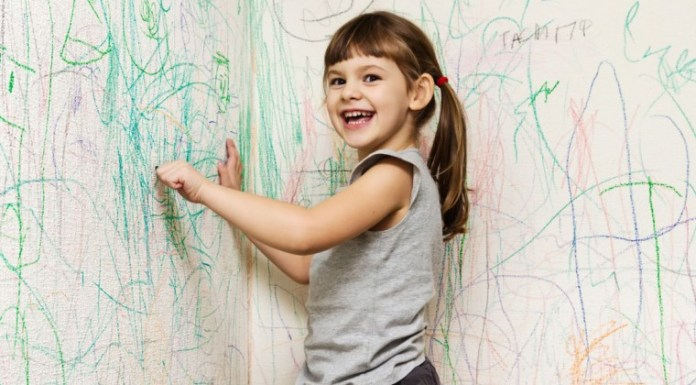 How to get crayon marks off walls