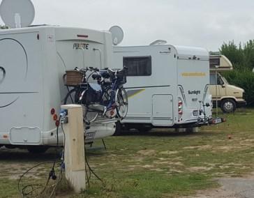 Stellplatz auf dem Camping Municipal in Wissant