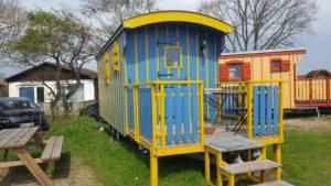 Zirkuswagen als Unterkunft