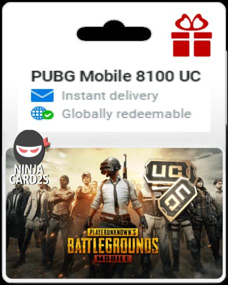 Buy PUBG Mobile 8100 UC