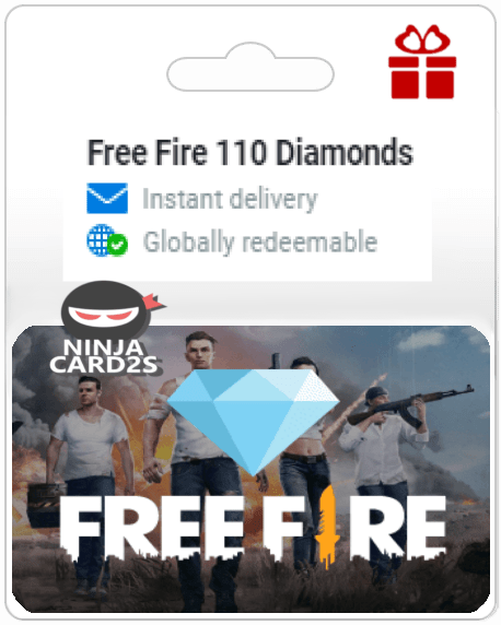Receive your Free Fire Diamonds gift card instantly via email