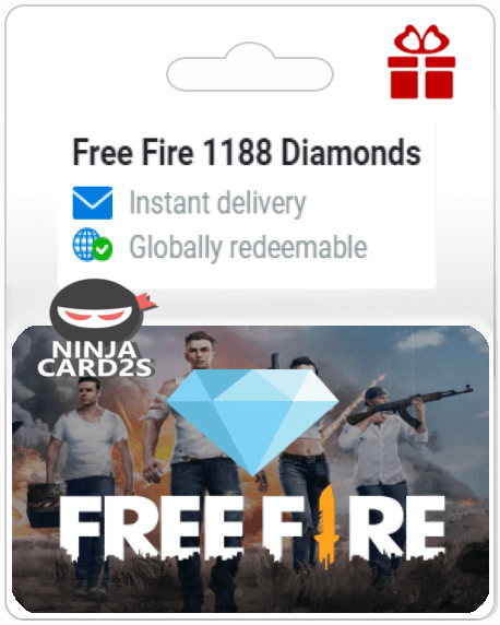 Easily get your Free Fire Diamonds gift card via email