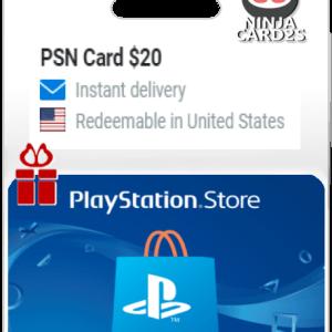 Buy a PSN Gift Card $20
