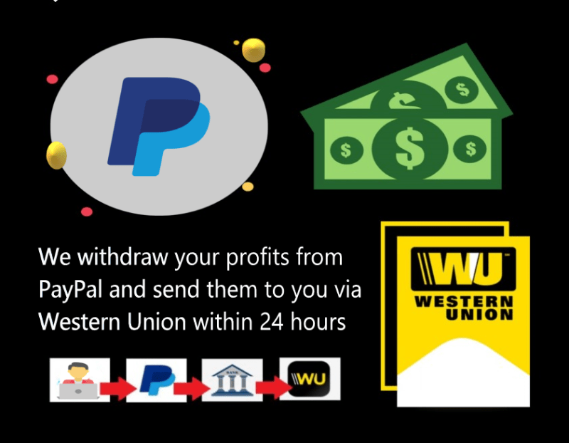 We withdraw PayPal balance to Western Union