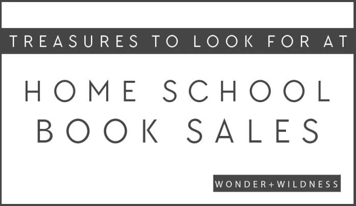 treasures to look for at homeschool book sales