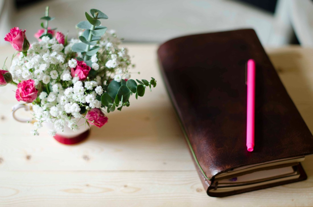 The Traveler's Notebook - a collection of notebooks within a gorgeous leather cover - has become my very favorite notebook and planner.