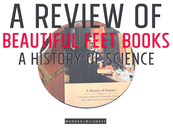 A review of Beautiful Feet Books A History of Science book pack