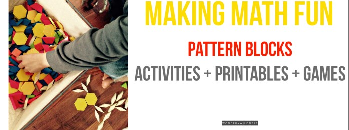 Printable Pattern Block Designs + Activities