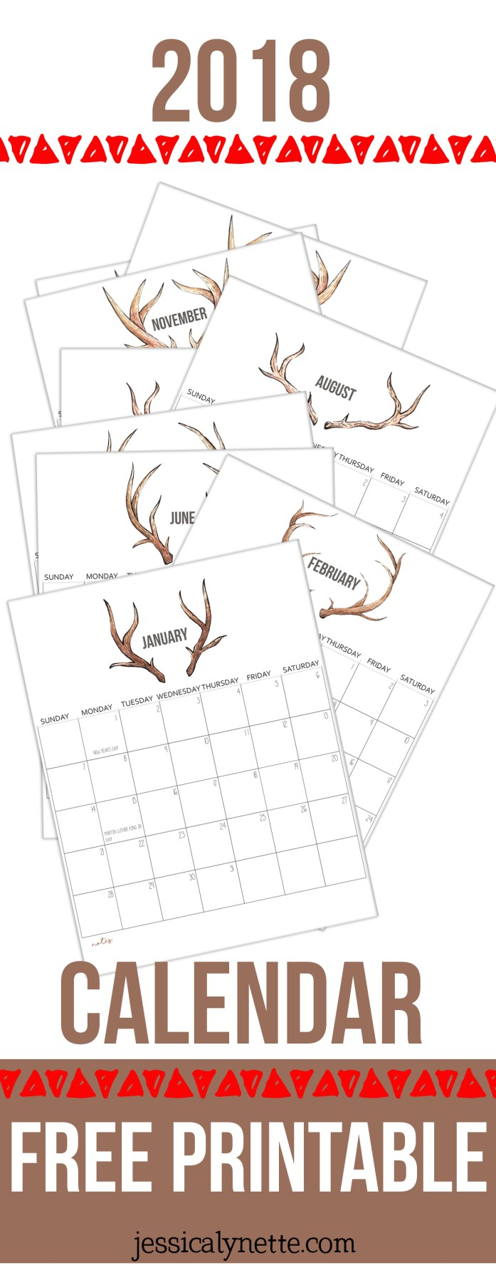 free 2018 printable calendar if i had made a homeschool planner for myself this year i would have used this printable calendar for the pages but instead i