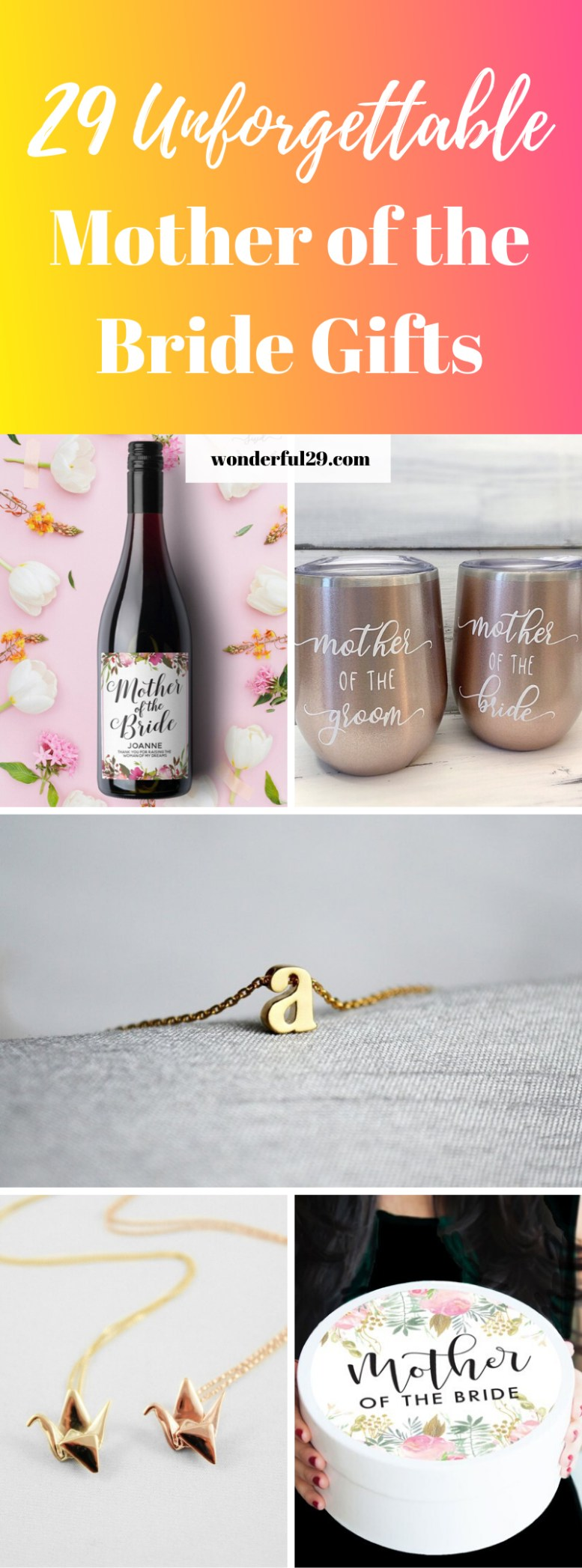 Mother of the Bride Gift Ideas