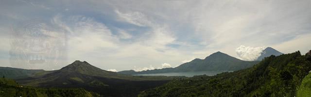 Batur Volcano And Lake Batur Wonderful Bali
