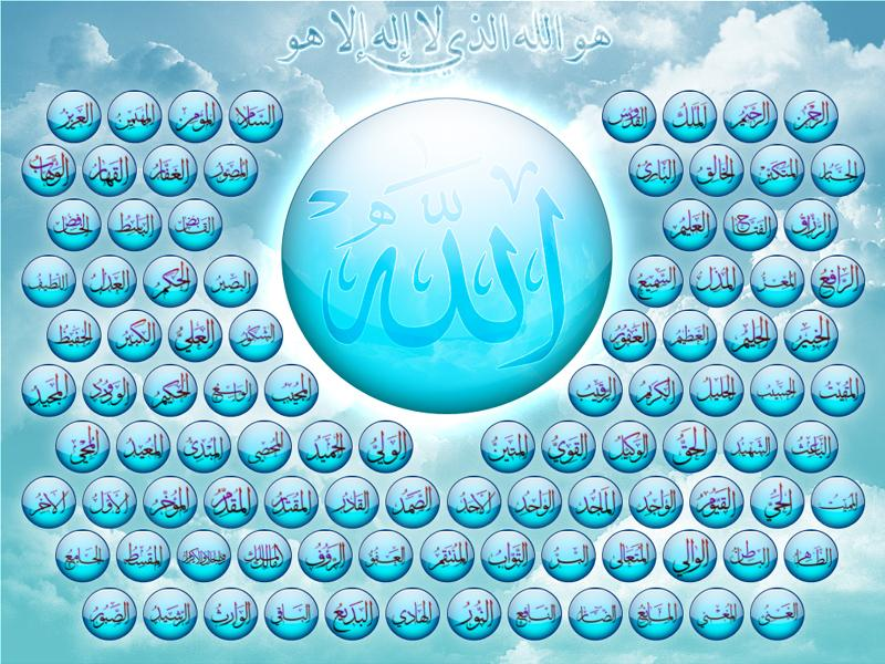 99 Names Of Allah With Meaning And Benefits