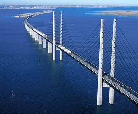Oresund Bridge Between Sweden Denmark