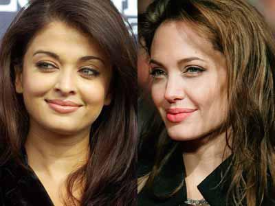 Aishwarya Rai and Angelina Jolie