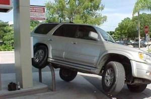 car on bracket