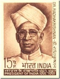Stamp in honor of Radhakrishnan