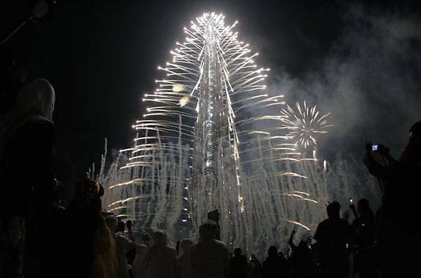 burj khalifa fireworks inauguration ceremony