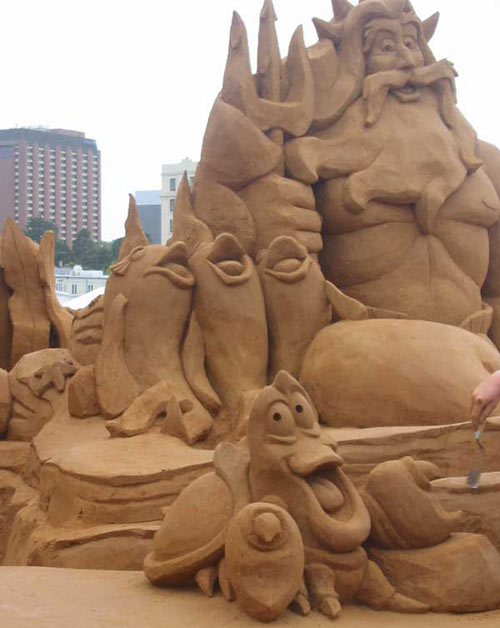 sand sculpture - funny