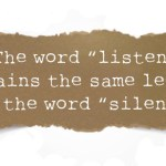 listen and silent