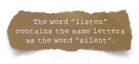 Listen and Silent contains the same letters
