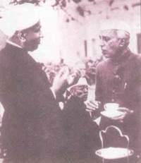 Raman with Jawaharlal Nehru