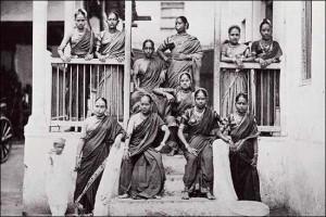 Dancing girls began performing