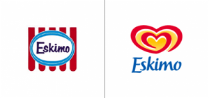 Eskimo logo old vs new