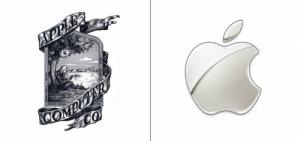 Apple logo old vs new