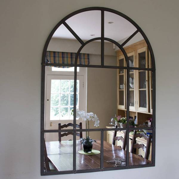 original aged metal arched wall mirror   Wonderfully Women     Low cost ways to prepare your home for sale to maximise profits        original aged metal arched wall mirror