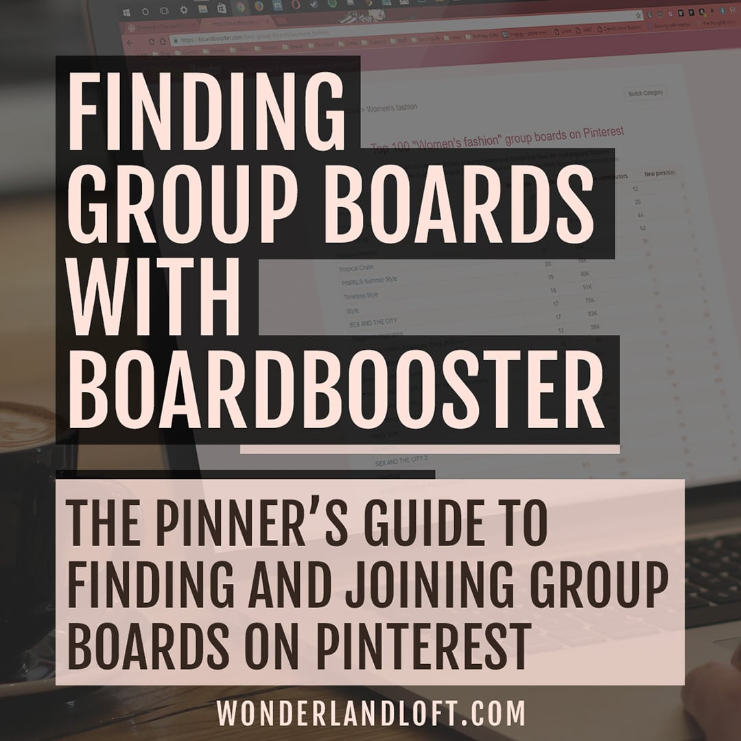 How find and join Pinterest Group Boards with BoardBooster