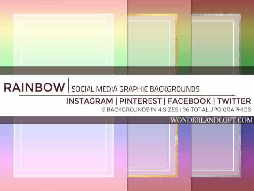 Free rainbow social media backgrounds