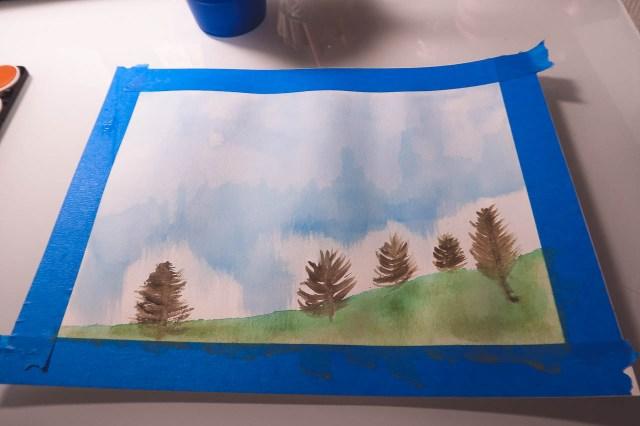 Watercolor Meditation