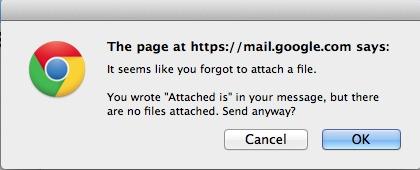 Gmail Attachment Reminder